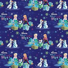 "Disney Frozen Snow Ice & Everything Nice 100% cotton 43"" fabric by yard"