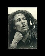 Bob Marley drawing reggae singer/songwriter from artist image piacture