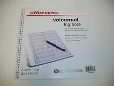 "Voicemail Log Book, 960 Entries, 1 Part,  8-1/4"" x 8-1/2"" (158-093)"