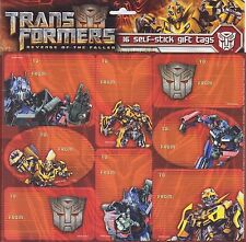 Transformer Gift Tags Peel & Stick Package Labels Birthday To/From Stickers 16p