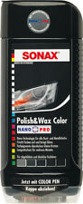 SONAX 296100 Polish & Wax Color NanoPro schwarz 1 x 500 ml Farbpolitur Lack