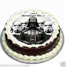 Star Wars Darth Vader cake topper edible icing 19cm round fondant.