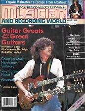 4/85 issue of INTERNATIONAL MUSICIAN  JIMMY PAGE cover Jimi Hendrix Van Halen
