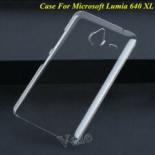 Clear Crystal Transparent Hard PC Case Cover For Microsoft Nokia Lumia 640 XL