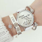 I'm already late women's men's Leather Fashion trendy newest White Wrist Watch