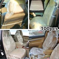 100x Disposable Plastic Car Seat Covers (on a Roll) valets, bodyshops to protect