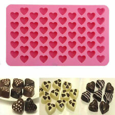 Xcellent 55 Hearts Mini Heart Shape Silicone Ice Cube Chocolate Mold Pink New