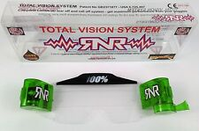 100% Green Roll Off Cannister TVS Goggle System Rip N Roll Motocross Enduro MTB