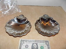 2 NIP Vintage Silver Metal Clam Footed Bowl Soap Dish Tarnish Resistant - Japan