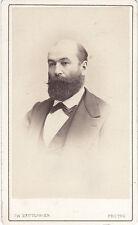 Photo cdv : Ch.Reutlinger ; Portrait d'un homme portant la barbe , vers 1868