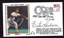 Tito Landrum Signed 1985 World Series Game 4 Gateway Cachet FDC Cover PSA