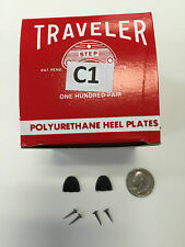 6 pair SHOE REPAIR HEEL Protector PLATES  TAPS  C1 SMALL womens traveler + nails