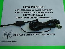 BNC MOBILE RADIO ANTENNA WINDOW MOUNT OR SCANNER RADIO DIGITAL ANALOG WIDE BAND