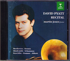 David PYATT: HORN RECITAL Beethoven Hindemith Koechlin Damase CD Martin Jones
