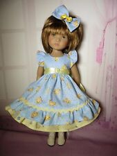 PIXIES HAND MADE:EASTER DRESS/BOW fits 13 INCH DOLLS like LITTLE DARLING