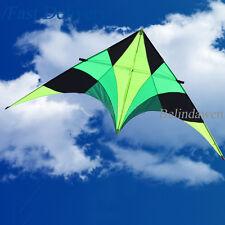 9ft Green Bird Single Line Sport Power Delta Kite Easy to Fly for Kids Toys Gift