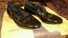 Mezlan patent Leather Black Broadway Oxford Dress Shoes Size 12 M Made In Spain