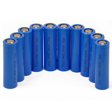 10pcs Lithium 3.7V 18650 2200mAh Rechargeable Li-ion Battery Flat Head PKCELL