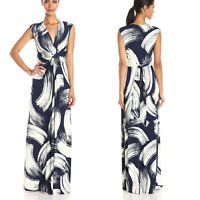 PLUS SIZE 8-24 Ladies V Neck Maxi Summer Long Skirt Evening Cocktail Party Dress