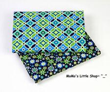 Beautiful Vera Bradley 100% Cotton Fabric (Daisy Daisy)——2 Matching Fat Quarters