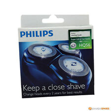 3 PHILIPS HQ56 RAZOR SHAVER CUTTER BLADES HEAD FOIL PHILISHAVE HQ4+ HQ4 HQ55