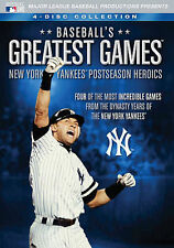 MLB: Baseball's Greatest Games - New York Yankees Postseason Heroics (DVD,...