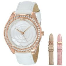 New GUESS Women Interchangeable White, Pink, and Gold Box Set Watch U0215L1 NWT
