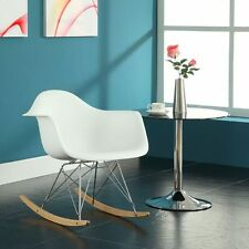 Armchairs For Living Room Waiting Room Rocker White Plastic Chair With Arms