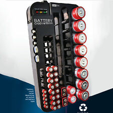 72 Battery Storage Plastic Holder Rack Organizer Removable Tester AAA AA D C