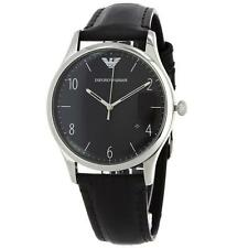 EMPORIO ARMANI AR1865 Beta Black Dial Leather Strap Men's Watch