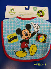Mickey Mouse Disney Fabric Cloth Small Bib Fabric Baby Shower Party Gift - Blue