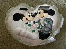 "DISNEY MICKEY & MINNIE MOUSE 2005 WEDDING PINK CUSHION 9"" TALL REALLY CUTE"