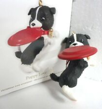 HALLMARK 2012 Puppy Love series Christmas Ornament Puppy with Frisbe NEW