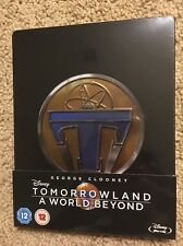 Tomorrow Land A World Beyond (embossed Blu Ray Steelbook, UK, Region Free) NEW