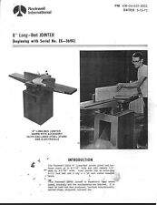 "Delta Rockwell / 8"" Long Bed Jointer Instructions"
