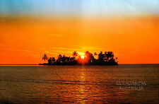 SUNNY ISLAND MAURITIUS POSTER (61x91cm) SUNSET PHOTOGRAPHY NEW LICENSED ART