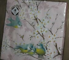 "Blue Bird Theme Luncheon Napkins 20 Ct 3 Ply 13"" X 13"" Mesafina"