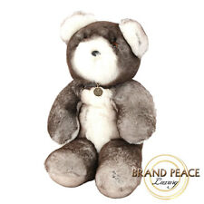 Gucci stuffed bear rabbit fur brown/ white limited edition Free Shipping