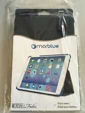 MarBlue MicroShell Folio Stand Case for iPad Mini 1,2,3 Retina  Black AMMF11 NEW