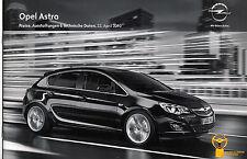 Opel - Astra - Preise/Ausstattungen - 04/2010 - Deutsch - nl-Versandhandel
