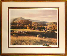 "Adolf Sehring ""Autumn Fields"" Hand Signed Fine Art Print with Original Remarque"
