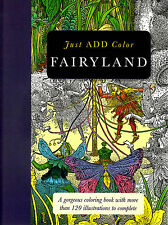 Barron's Just Add Fairyland Adult Coloring Book paperback (2015, Paperback)