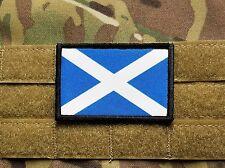 Scotland Scottish Flag Full Color Morale Patch with hook backing Highlander