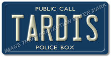 """Tardis Doctor Who Car Automobile Vanity Tag Aluminum License Plate Tag 6"""" x 12"""""""