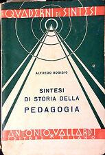 SINTESI DI STORIA DELLA PEDAGOGIA DI ALFREDO BOSISIO