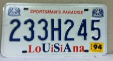 1994 LOUISIANA License Plate (233H245)