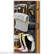 5ft Haunted Halloween GRIM REAPER Death Toilet Door Poster Cover Decoration