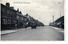 Sepia view of Beach Road Cleveleys 1926.... showing the New Coop Shop Blackpool