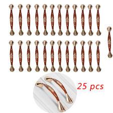25 pcs Cabinet Door Handle Handles Kitchen Drawer Hardware Pull Bar Matte RED V