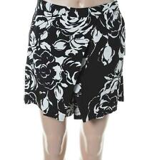 RALPH LAUREN ~ $108 NEW BLACK & WHITE FLORAL PRINT COULOTTE SKORT SKIRT SZ 6 NWT